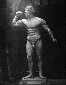 1901 Bust Of Sandow's Physique