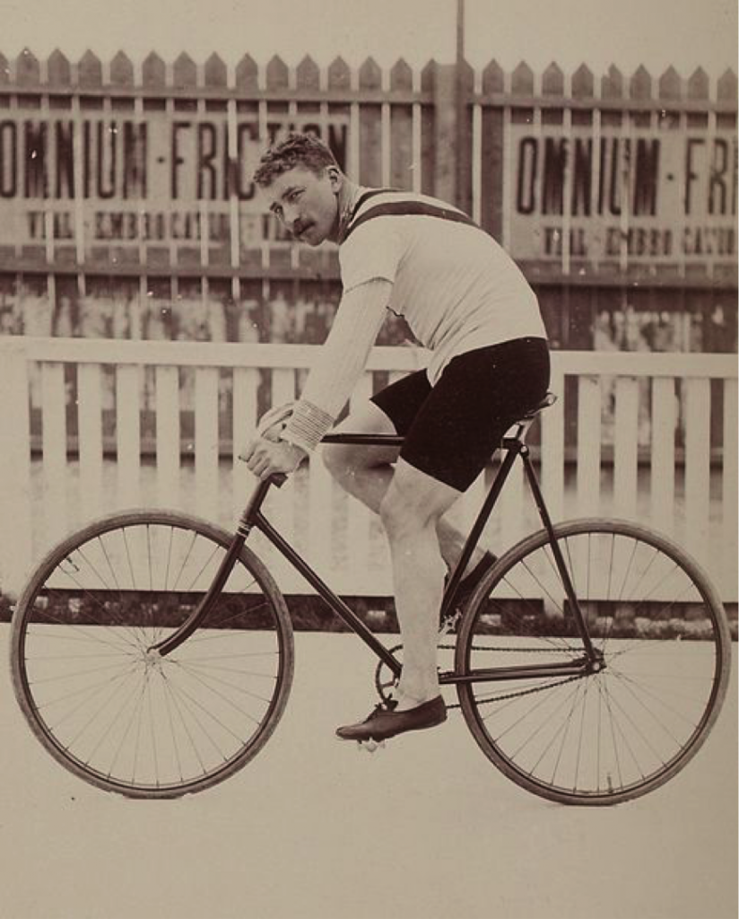 Jaap Eden on the bike, 1896
