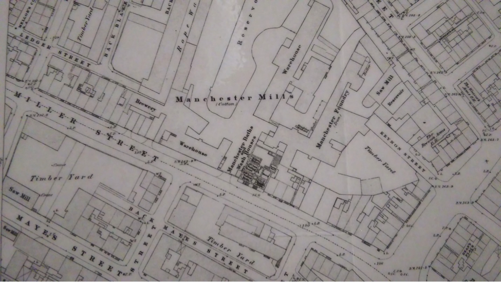 Map showing Miller St Baths