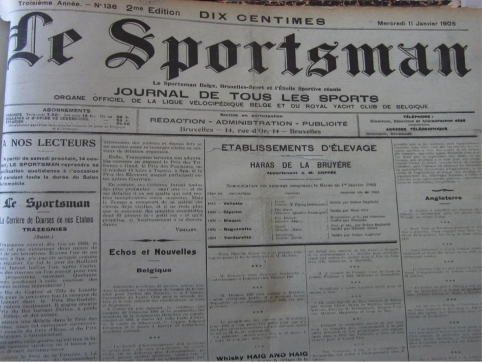 The front page of Le Sportsman (1904)