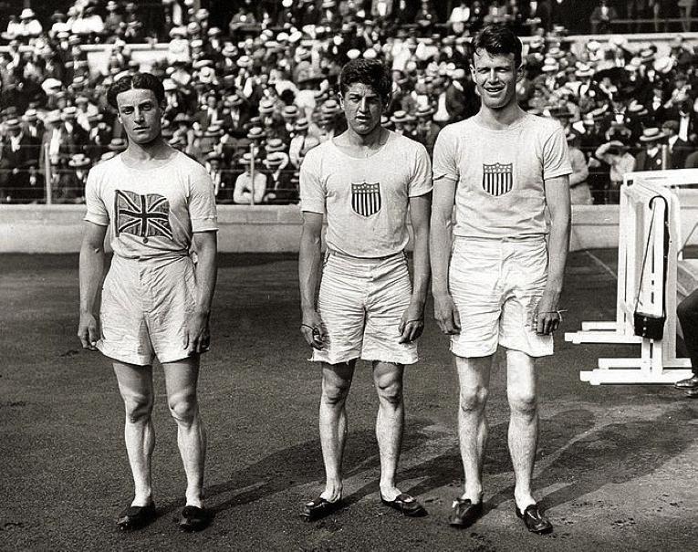 Willie Applegarth, Donald Lippincott and Ralph Craig, 1912
