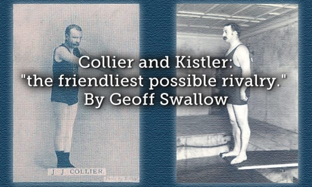 "Collier and Kistler: ""the friendliest possible rivalry."""