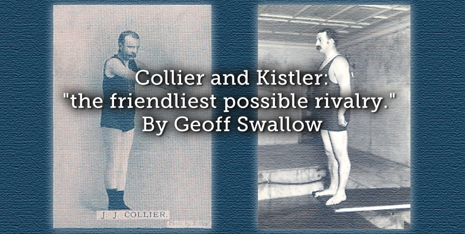 """Collier and Kistler: """"the friendliest possible rivalry."""""""