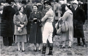 Dick Francis with the Queen & Princess Margaret