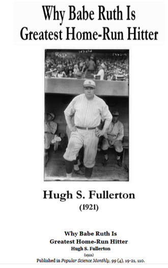 Figure 3. Fullerton's 1921 article on George Herman 'Babe' Ruth
