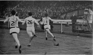 100m at First televised athletics meet on BBC