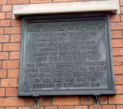 Exterior wall plaque at the Swindon Baths, Taunton Road