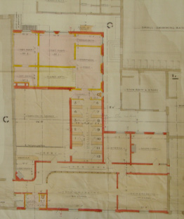 Plan of the men's (1904) Turkish baths