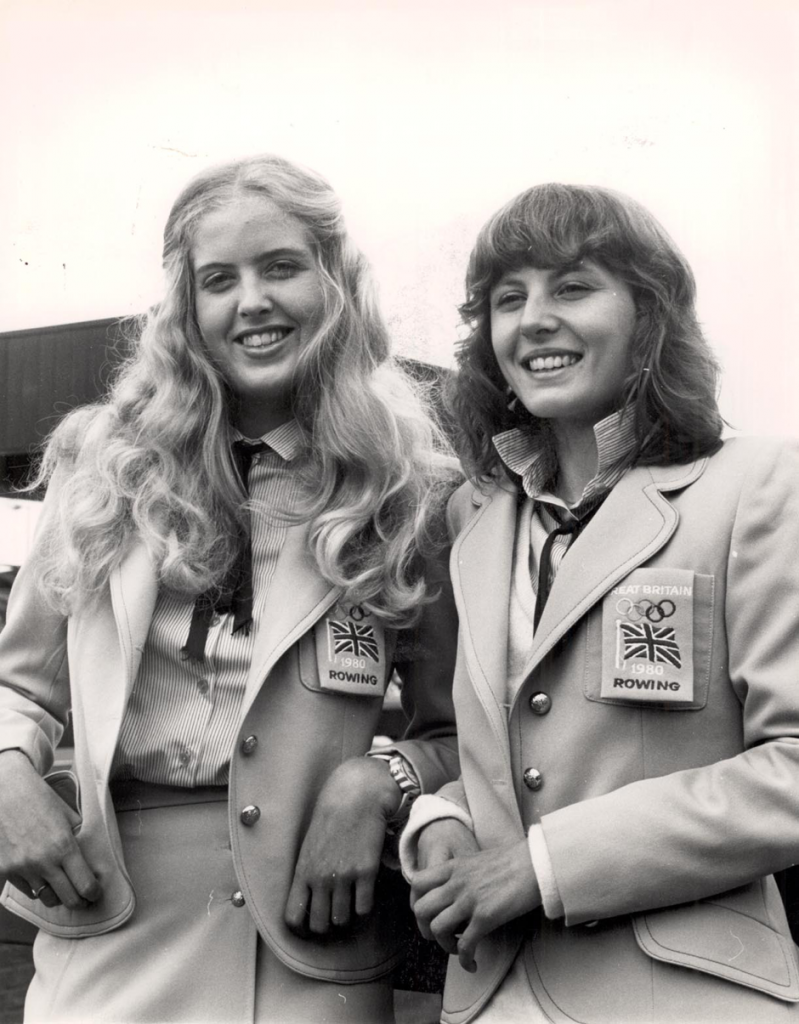 1980 Moscow Olympics- Sue Brown (right) with squad-mate Jo Toch (left) Copyright River & Rowing Museum