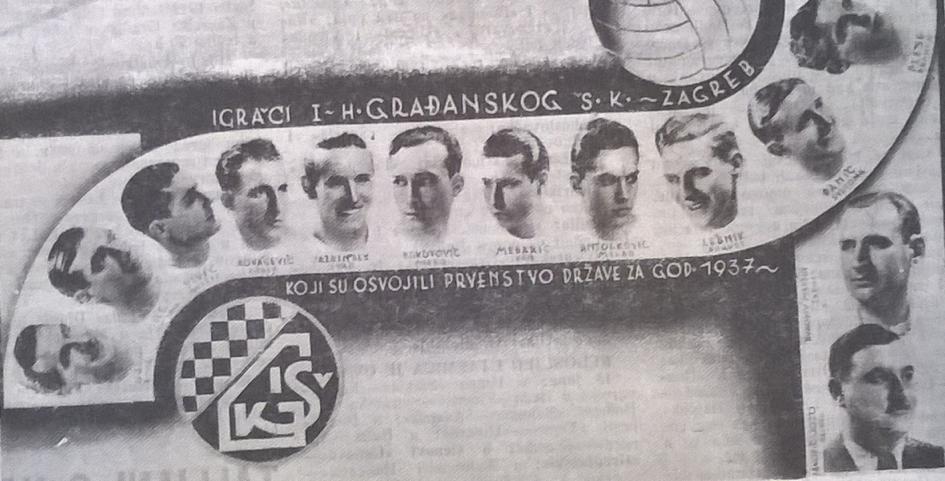Gradjanski – Yugoslav Champions for 1937