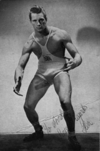 "Ken Richmond, wrestler and ""gong-man"""
