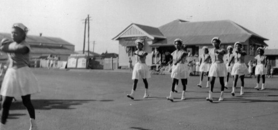 Cherbourg Marching Girls - Used as illustration of how GIS can be used in relation to Sport History