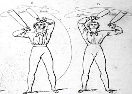 'Exercises Five and Six', Donald Walker, British Manly Exercises: in which rowing and sailing are now first described, and riding and driving are for the first time given in a work of this kind...(London, 1834), 26.
