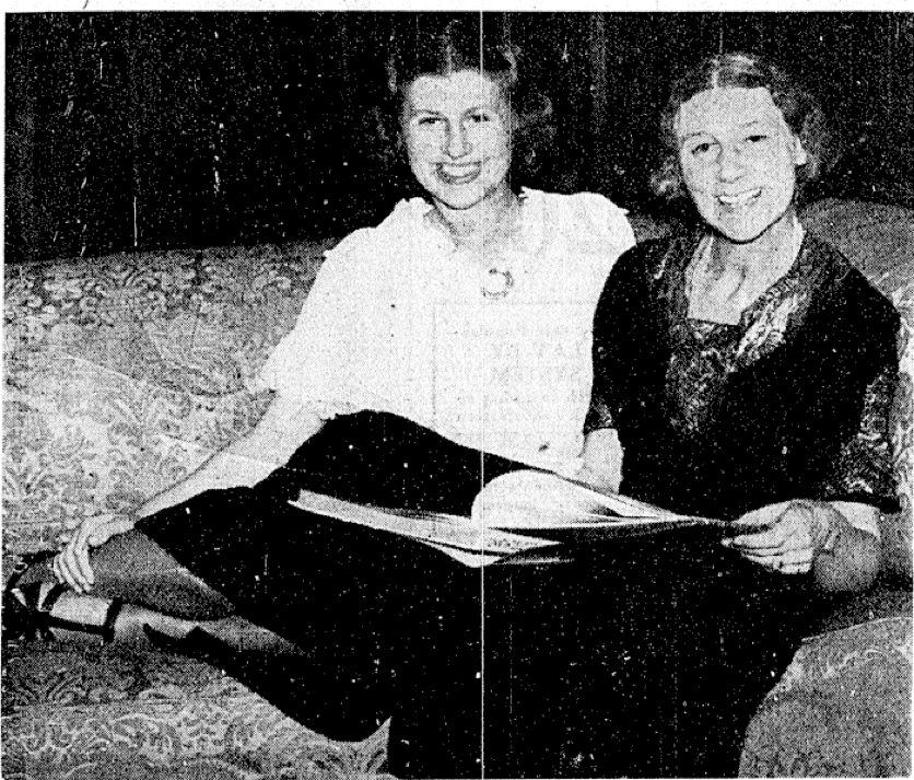 Cecilia with her mother relaxing after the 1936 Olympic Games