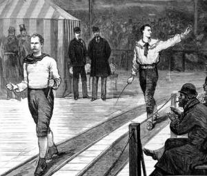 Pedestrians during a six-day event