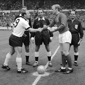 Gottfried Dienst at start of 1966 World Cup Final