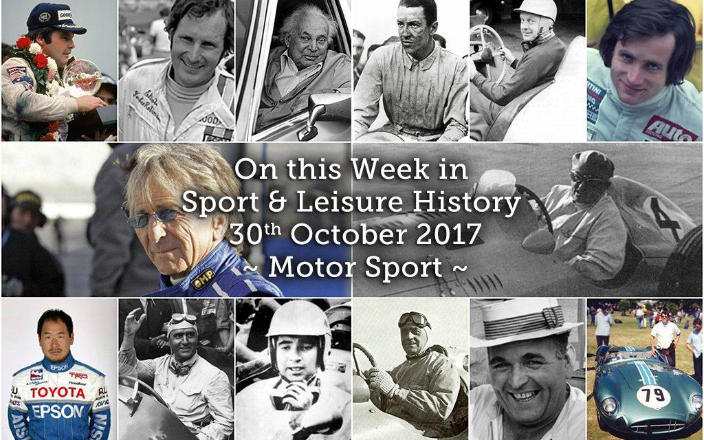 On this Week in Sport History – Motor Sport