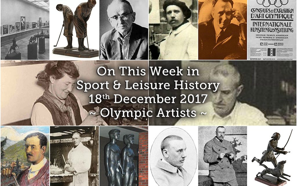 On this Week in Sport & Leisure History ~ Olympic Artists