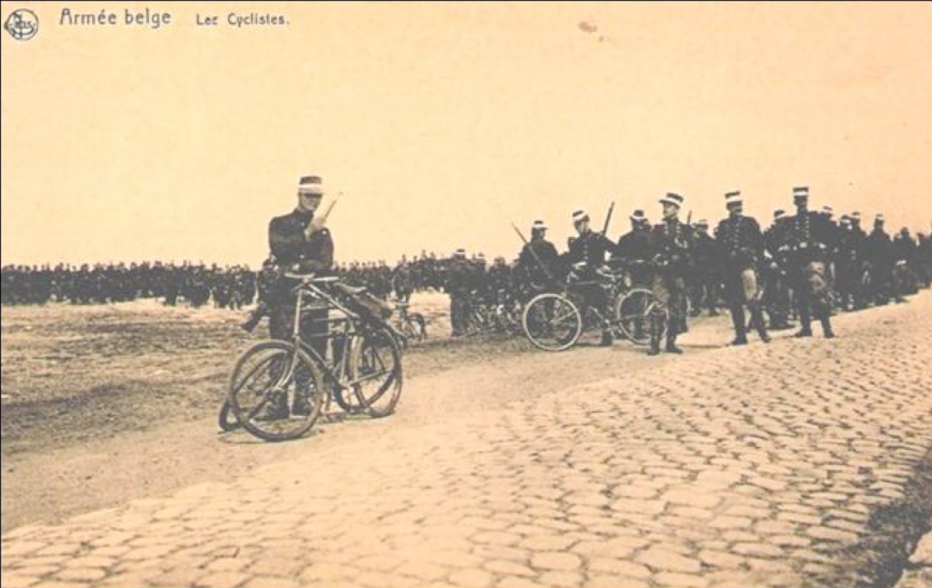 The Belgian karabiner-cyclists, called the Black Devils who fought in the Battle of Silver Helmets