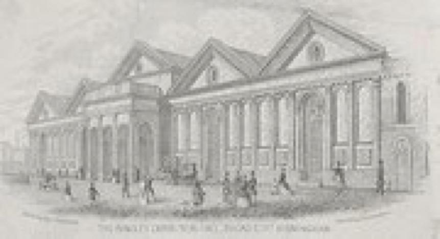 Bingley Hall in 1850s