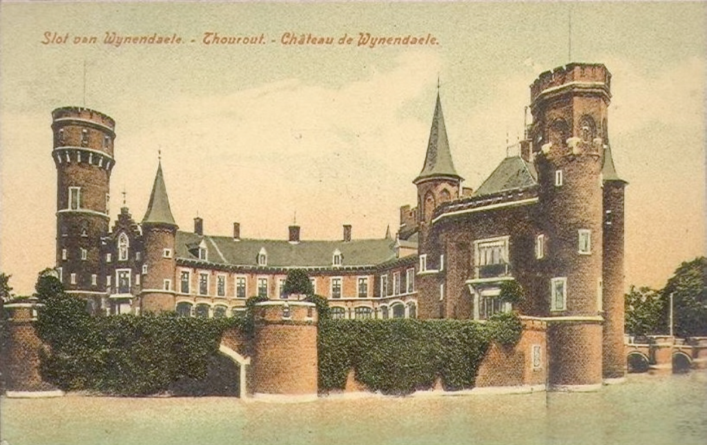 The Wijnendale Castle, where the Counts of Flanders used to live in the middle ages.