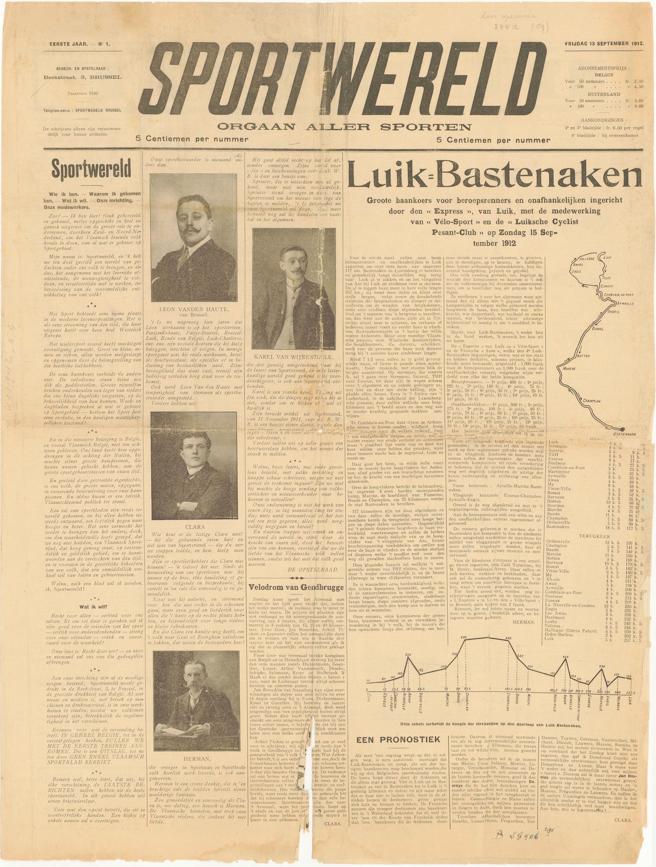 The first Sportwereld of 12 September 1912