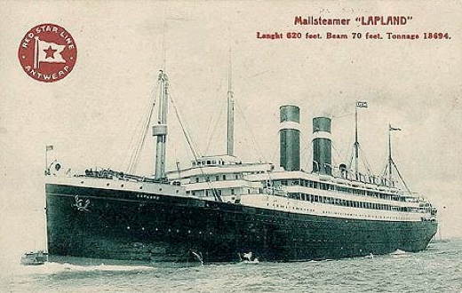 The SS Lapland, the steamer that brought the Flandriens to America