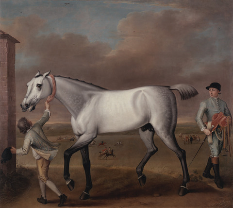 'The Duke of Hamilton's Grey Racehorse 'Victorious' at Newmarket', John Wootton (1682-1764) c. 1724 Courtesy of the Yale Center for British Art, Paul Mellon Collection