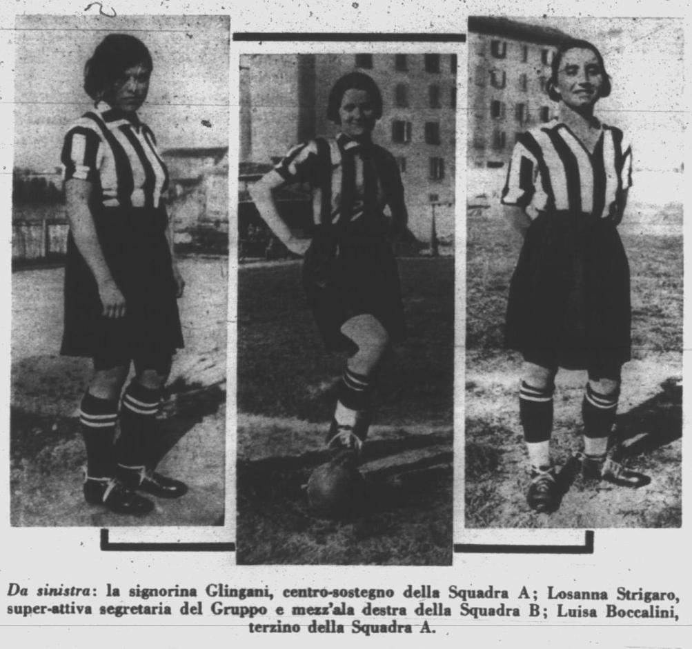 Three members of GFC. Source: Il Calcio Illustrato, 28/04/1933, p. 12.