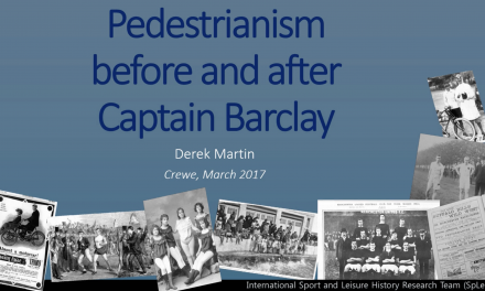 Captain Barclay's contemporaries: practising pedestrianism 1780-1820