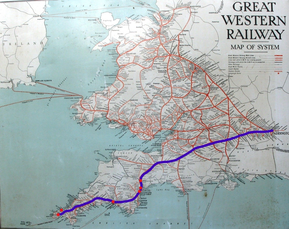 Route of GWR defined shape of circuit after 1876