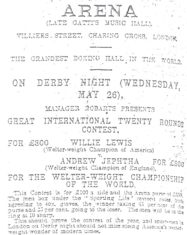 Lewis-vs-Jeptha-26-May-1909, Sporting Life - . Here, Jeptha is credited to be the champion, when, as shown above, the excerpts of the same journal for 25 March 1907 did not attribute any title to his victory