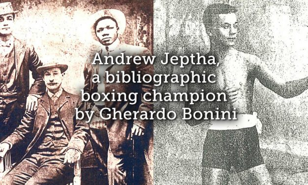 Andrew Jeptha, a Bibliographic Boxing Champion