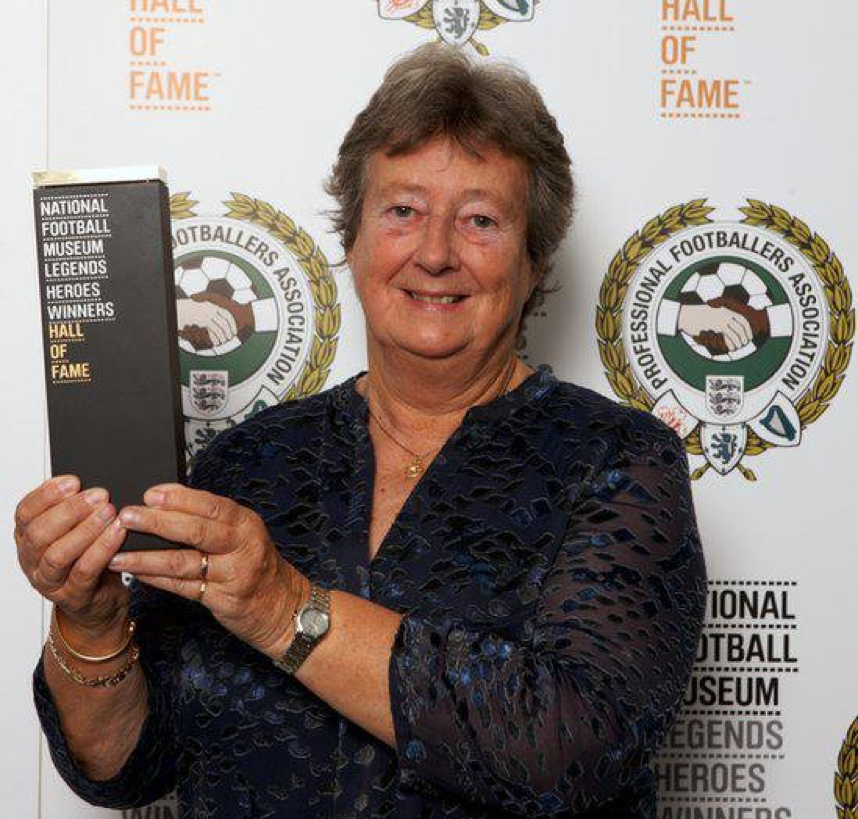 Sylvia in 2014 (The National Football Museum)