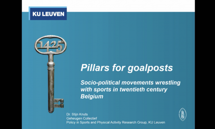 Pillars for goalposts: socio‐political movements wrestling sports in twentieth century Belgium