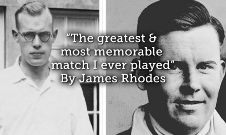"""The greatest & most memorable match I ever played"""