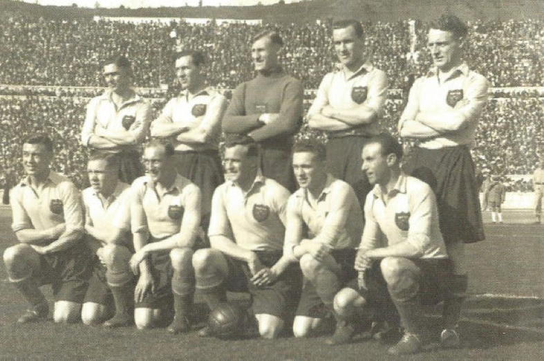 Frank Soo in an official England group photo