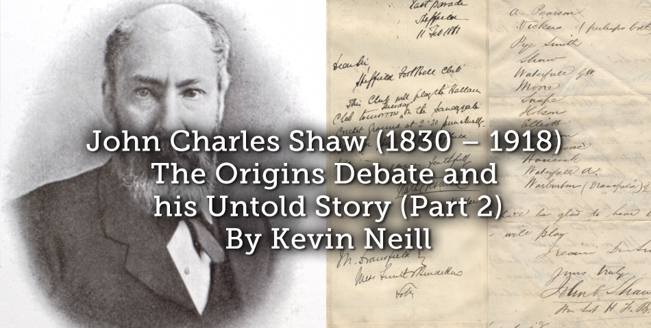 John Charles Shaw (1830 – 1918) The Origins Debate and his Untold Story (Part 2)