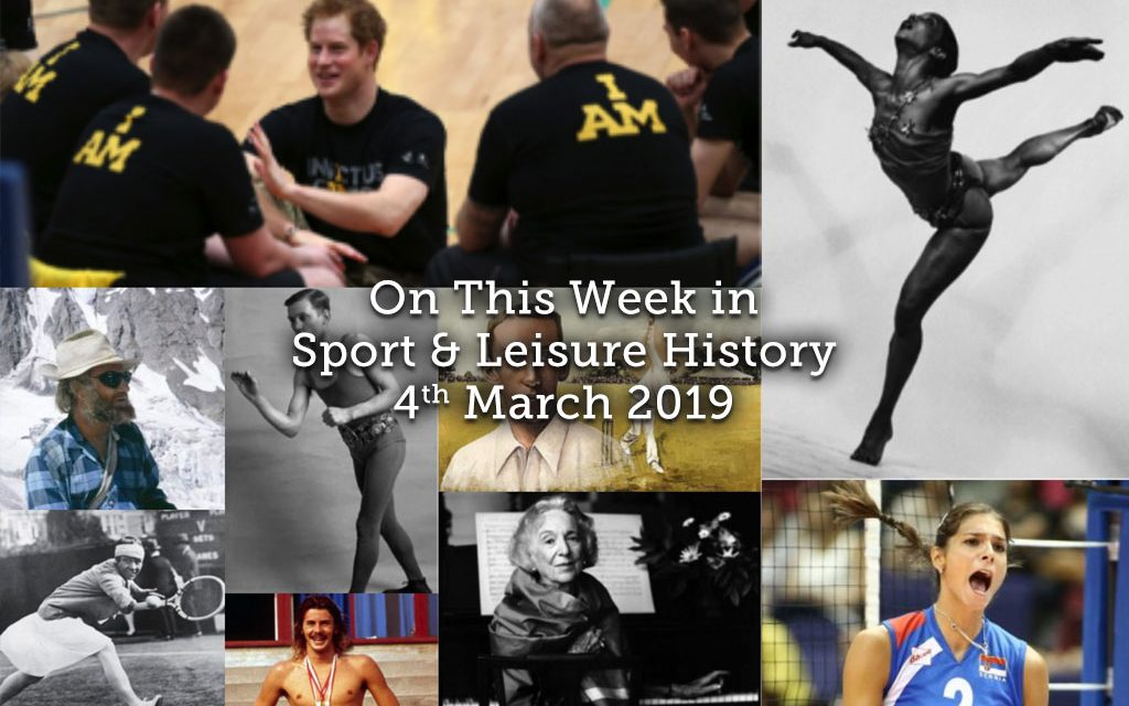 On This Week in Sport & Leisure History ~ 4th-10th March 2019