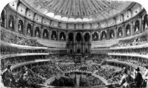 A contemporary depiction of the Royal Albert Hall