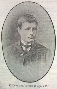 Edgar Dewhirst BFC captain 1895