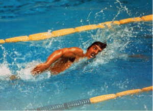 Mark Spitz in action