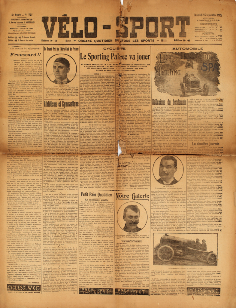 The front page of Vélo-Sport (1908)