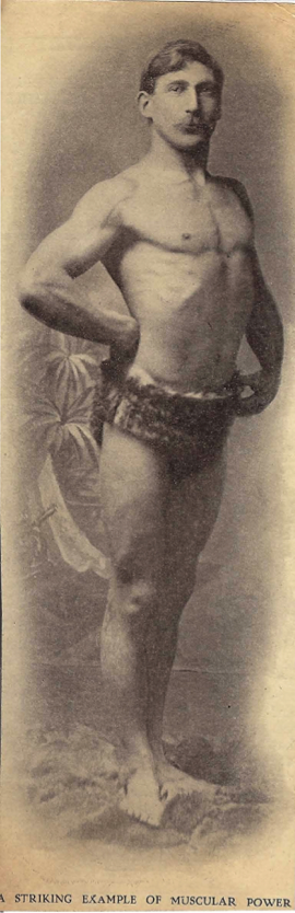 W.N. Kerr of Dublin as featured in the US publication, Physical Culture in 1899. Kerr would submit several photographs to this periodical. Courtesy of the Online Stark Archive