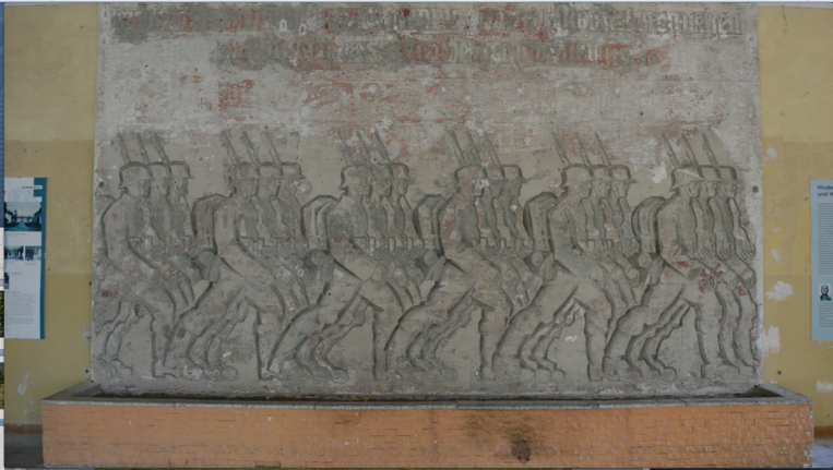 Nazi wall relief at the Hindenburghaus, Image courtesy David Gledhill