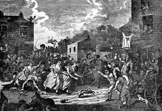 Smock Race at Tottenham Court Fair, 1738 (Wellcome Library, London)