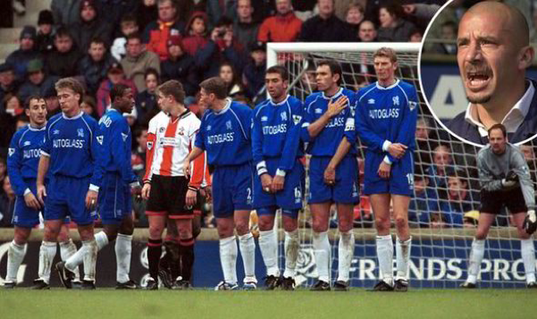 Gianluca Vialli and his all-foreign Chelsea XI