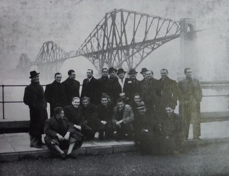 Gradjanski players in Edinburgh
