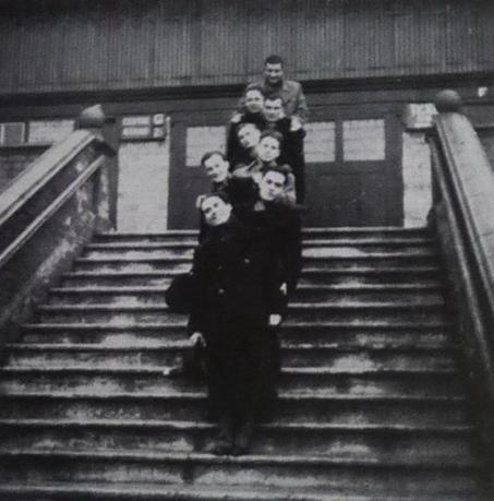 Gradjanski players in front of Villa Park
