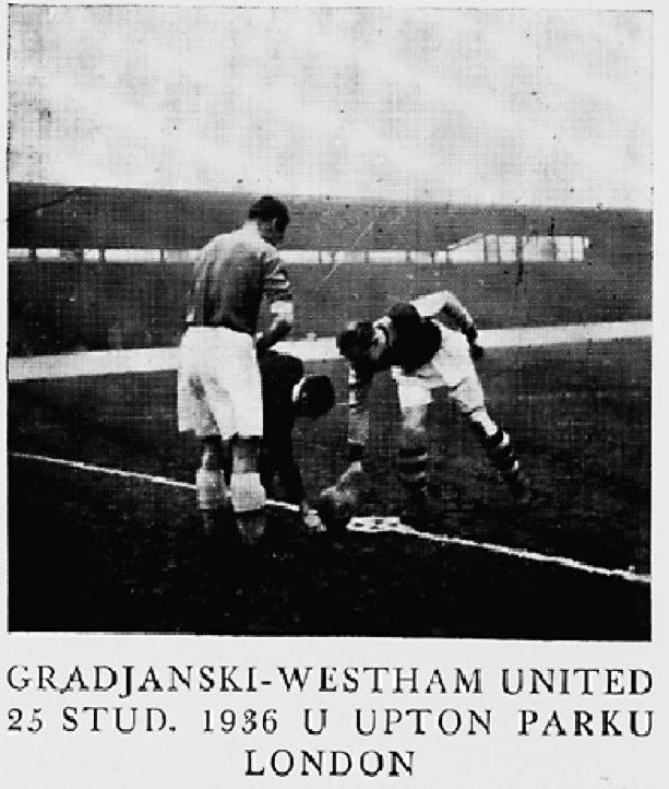 Gradjanski v West Ham United